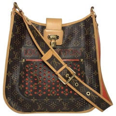 Louis Vuitton Limited Edition Monogram Perforated Musette Orange Crossbody Bag
