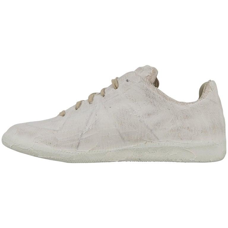 6f3cde039e0bf Maison Martin Margiela Men s Sneaker Paint-Finish White 43 For Sale ...