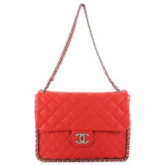 Chanel Chain Around Flap Bag Quilted Leather Maxi