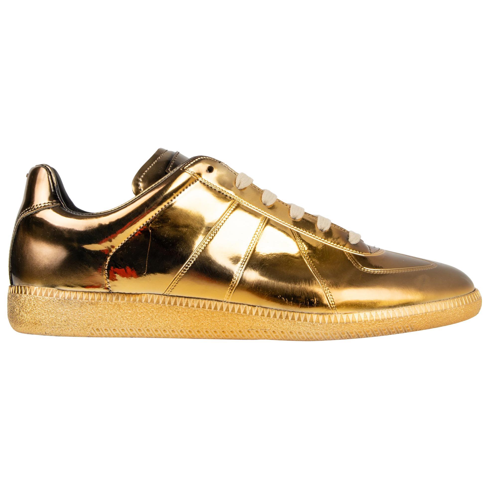 maison margiela gold sneakers