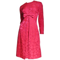 1950's Suzy Perette Damask Dress and Overdress