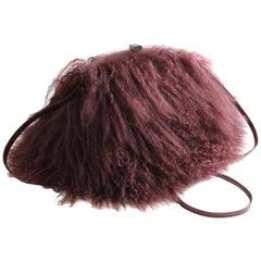 Iris Apfel Extinctions Mongolian Lamb Fur Shoulder Bag