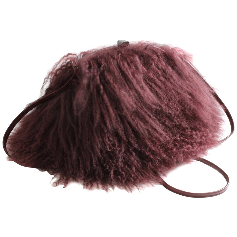 Iris Apfel Extinctions Mongolian Lamb Fur Shoulder Bag at 1stdibs 141e26cae9a52