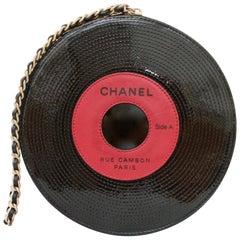 Chanel Patent Leather Ltd Ed Record Bag Evening Clutch Wristlet, 2004
