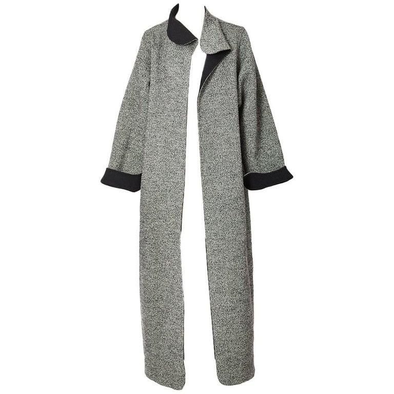 Geoffrey Beene Tweed Maxi Coat For Sale