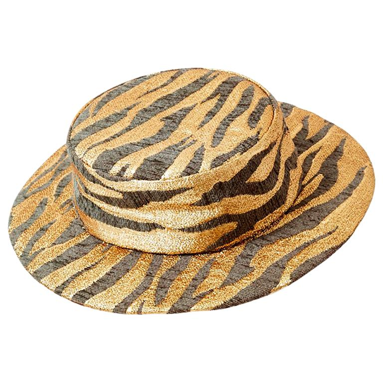 e23595ad057 Givenchy Animal Pattern Boater Hat For Sale at 1stdibs