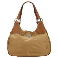 Prada Brown x Light Brown x Brown Nylon Shoulder Bag