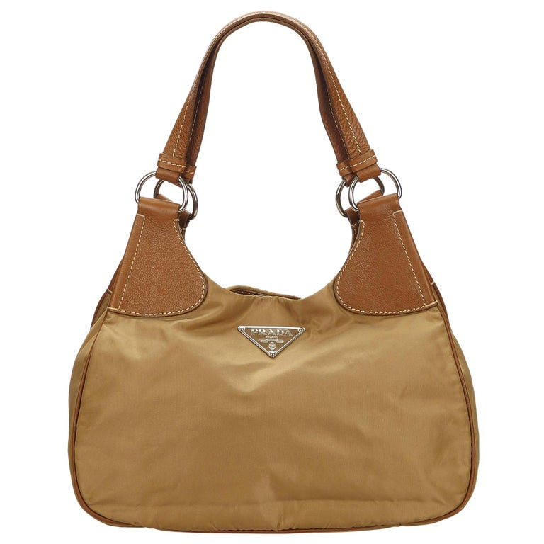 628a7e2791 Prada Brown x Light Brown x Brown Nylon Shoulder Bag For Sale at 1stdibs