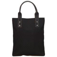 Celine Black Macadam Jacquard Tote Bag