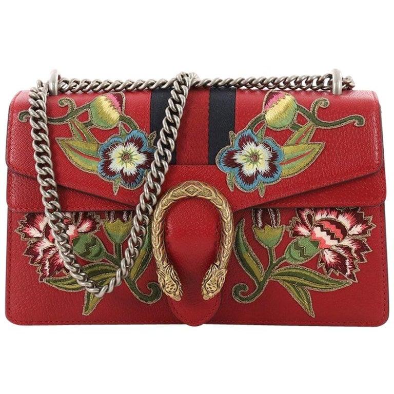 bc8e7c64592598 Gucci Web Dionysus Small Embroidered Leather Handbag at 1stdibs