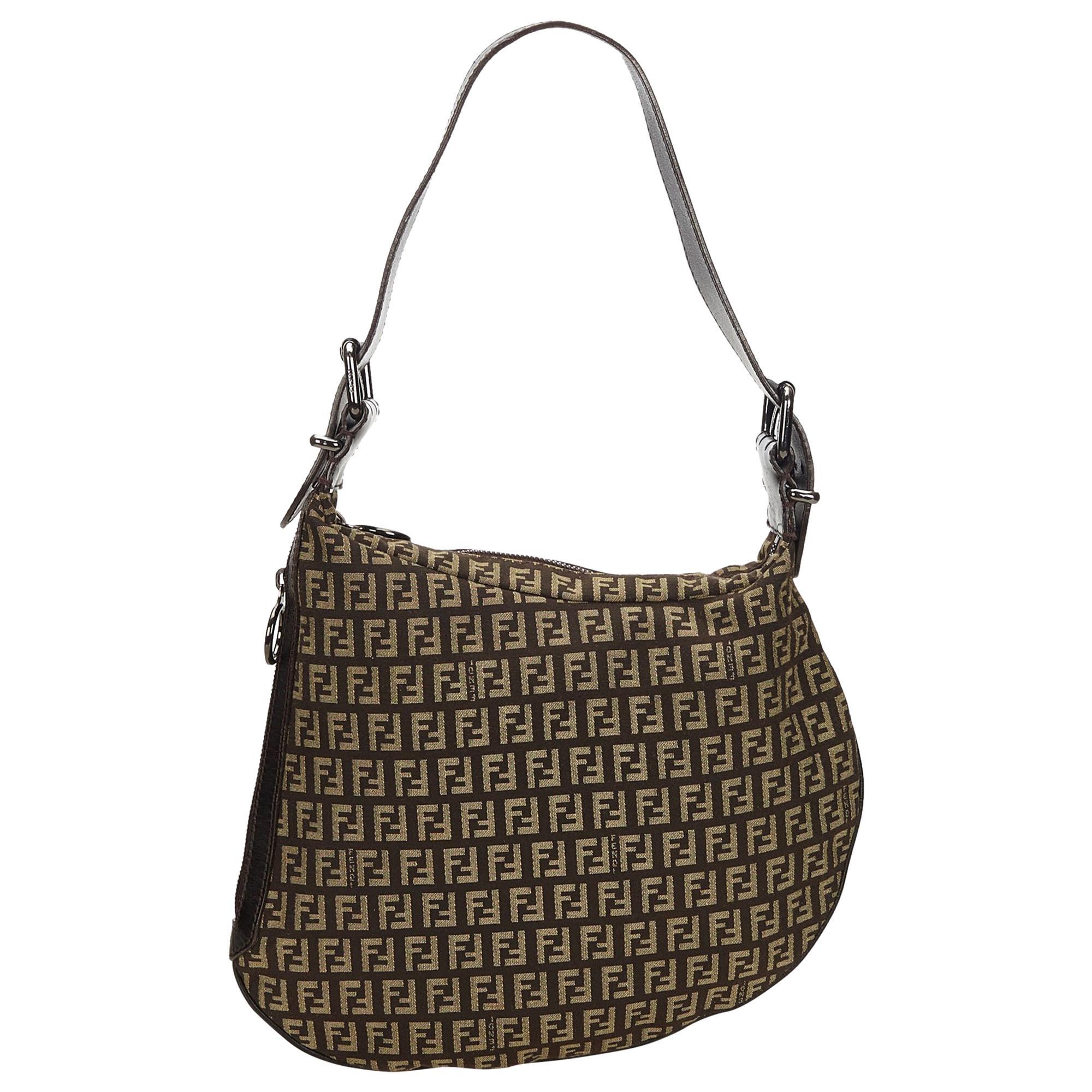 31e010d2b3c ... designer lambskin b1d0f 3675a coupon code for fendi brown zucchino  canvas shoulder bag 5790b a0366 ...