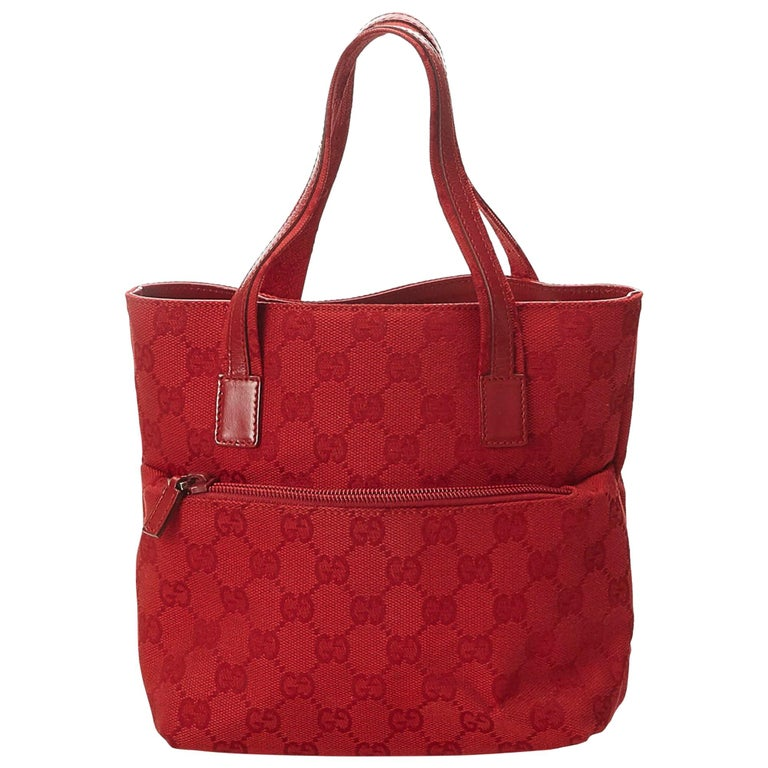 a54b46b9639 Gucci Red Guccissima Jacquard Tote at 1stdibs