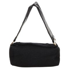 Prada Black Canvas Shoulder Bag