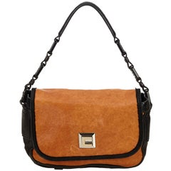 6b5d2c0f9bb61 Celine Brown x Light Brown x Black Leather Baguette