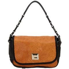 ad162627a4 Celine Brown Macadam Jacquard Shoulder Bag at 1stdibs