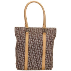 Dior Brown Oblique Canvas Tote Bag