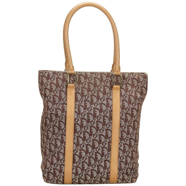 8d28ae70f43e Dior Brown Oblique Canvas Tote Bag at 1stdibs