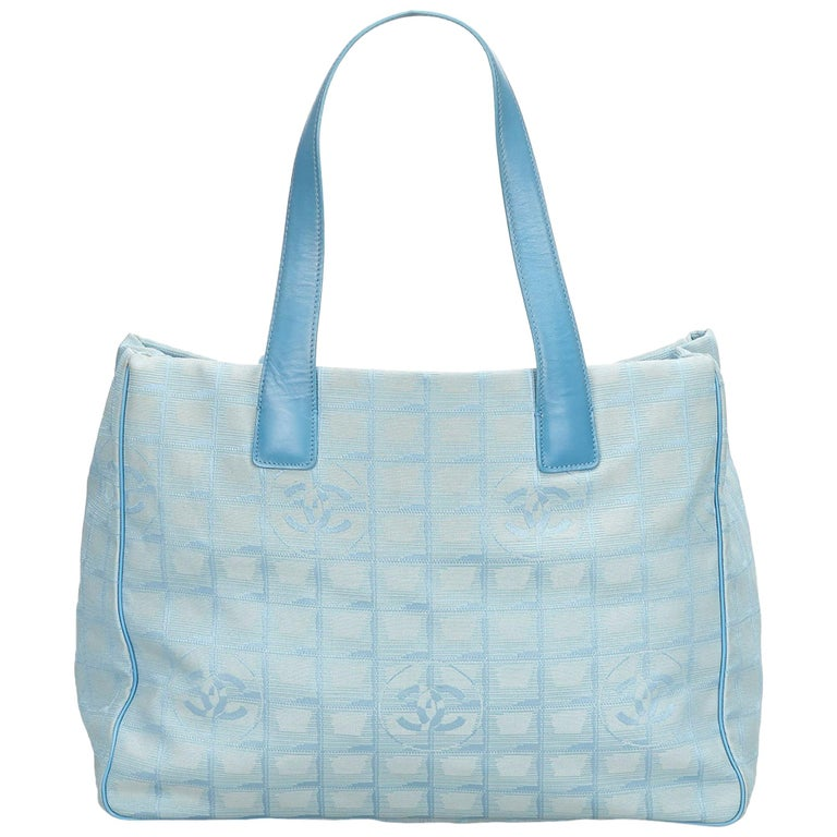 471ba0044c75 Chanel Light Blue New Travel Line MM Tote at 1stdibs