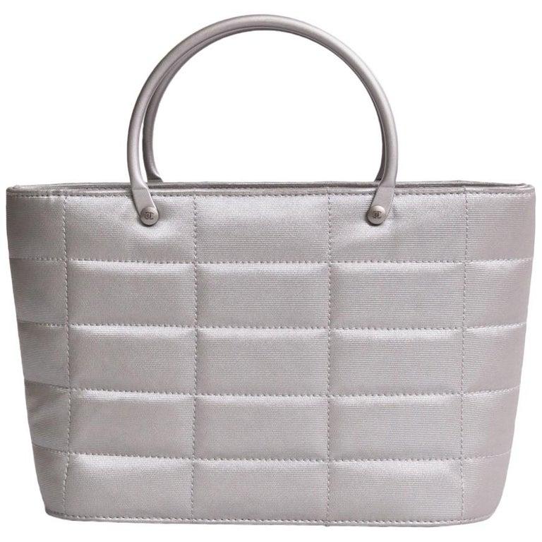 Chanel Vintage Mini Bag in Gray Pearl Lurex