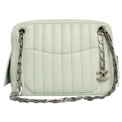 Chanel Small Bag in Green Water Color Leather