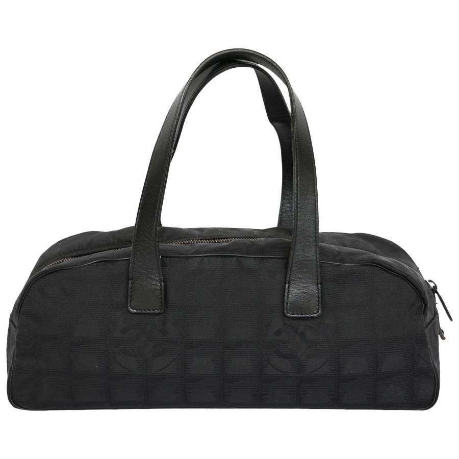 Chanel Black Monogram Canvas Bag