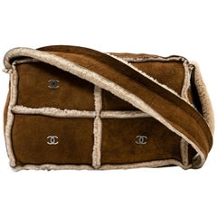 Chanel Camel Color Shearling Lambskin Leather Mini Bag