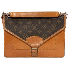 Louis Vuitton Vintage Brown monogram Canvas and Leather Double Pocket Bag
