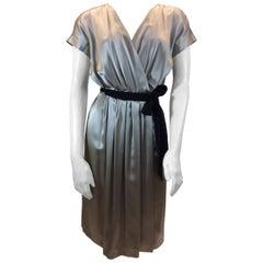 MaxMara Taupe Silk Wrap Dress