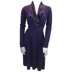 Max Mara Purple Long Sleeve Dress