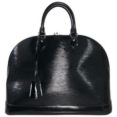Louis Vuitton Electric Epi Alma GM in Black Satchel Handbag