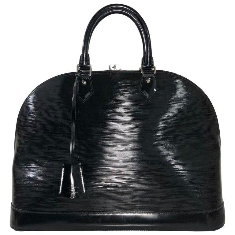 Louis Vuitton Electric Epi Alma GM Black Satchel Handbag