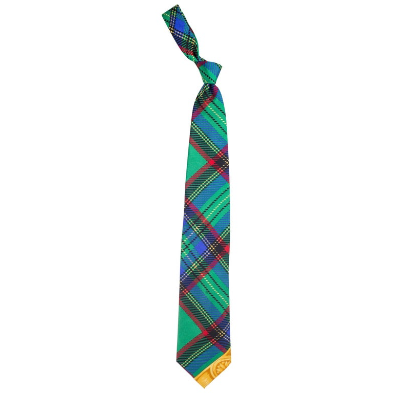 Early 1990s Gianni Versace Silk Plaid Tie For Sale