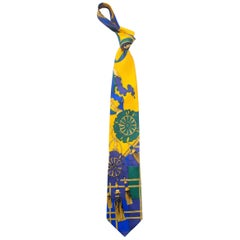 Early 1990s Gianni Versace Scottish Silk Tie