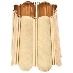 Napier Modern Gold Tone Wide Cuff Bracelet