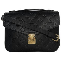Louis Vuitton Empreinte Pochette Metis in Black Crossbody Shoulder Handbag