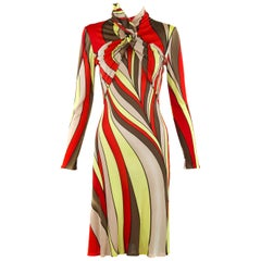 Vintage Gianni Versace Printed Dress - Size IT 42