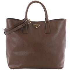 Prada Convertible Open Tote Saffiano Leather Medium