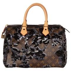 Louis Vuitton Limitierte Auflage Fleur de Jais Monogramm Speedy 30 Tasche
