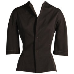 Yohji Yamamoto Black Wool Fitted Jacket or Top