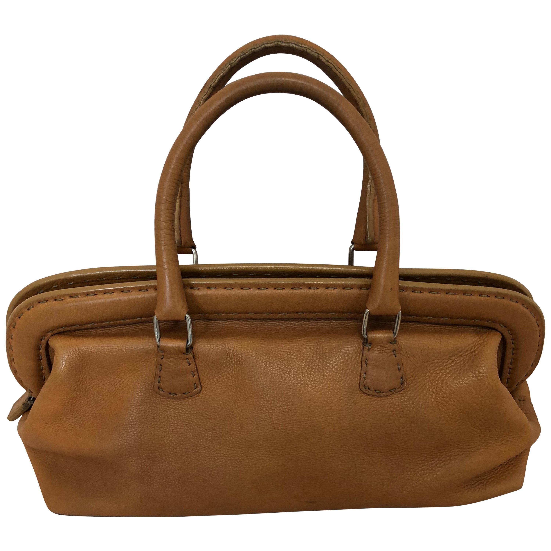 49a124deb8 ... shop fendi cognac leather selleria doctor handbag for sale a63b9 5b7d6  ...