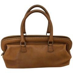 Fendi Cognac Leather Selleria Doctor Handbag