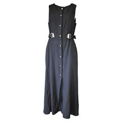 State of Claude Montana Vintage Black Dress 1990's