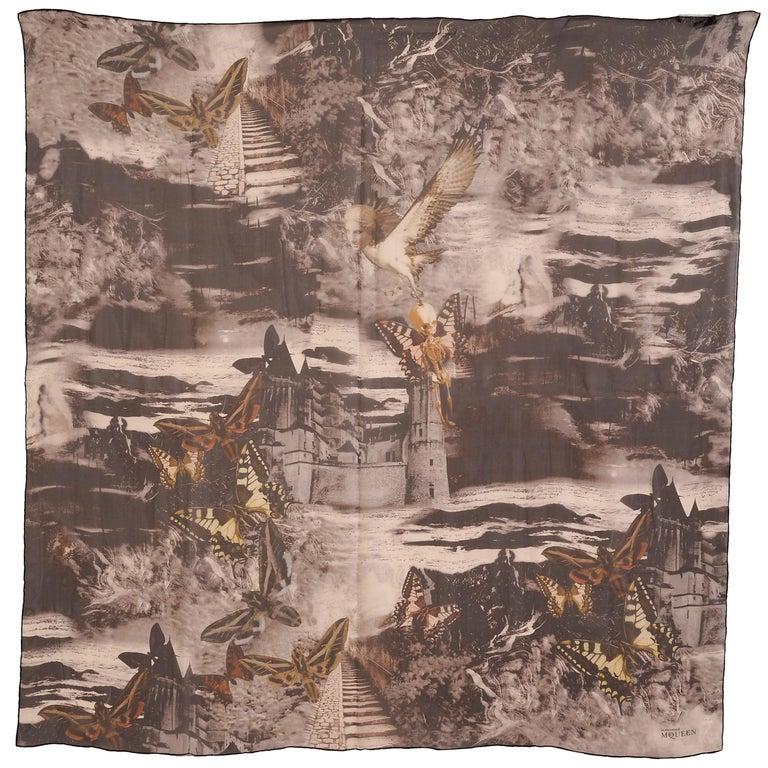 Alexander McQueen Silk Chiffon Shawl For Sale