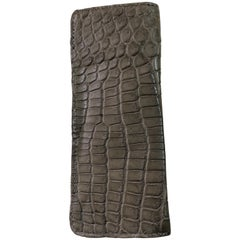 Ana Switzerland Design Crocodile and Ostrich Eyeglasses Case