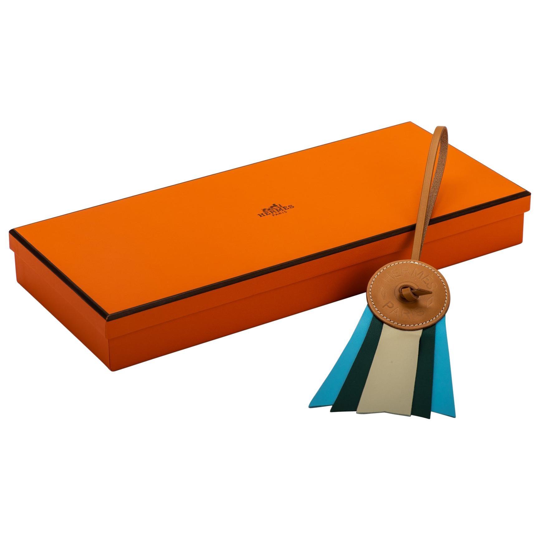 Hermes Blue Paddock Bag Charm