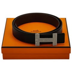 Hermès Reversible Black and Brown H Belt