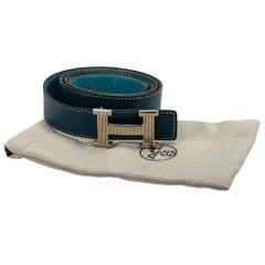 Hermès Blue Jean Tallahasa 105 CM H Belt