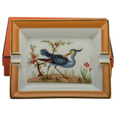 Hermès Blue Bird Porcelaine Ashtray