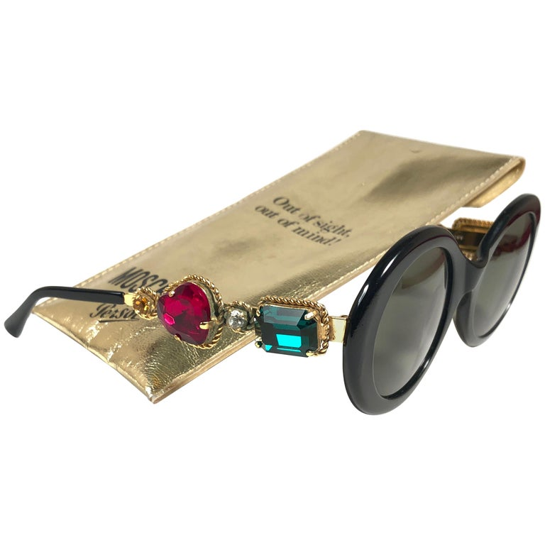 e96890bbd3 Moschino By Persol M253 Vintage Black Jewelled Lady Gaga Sunglasses ...
