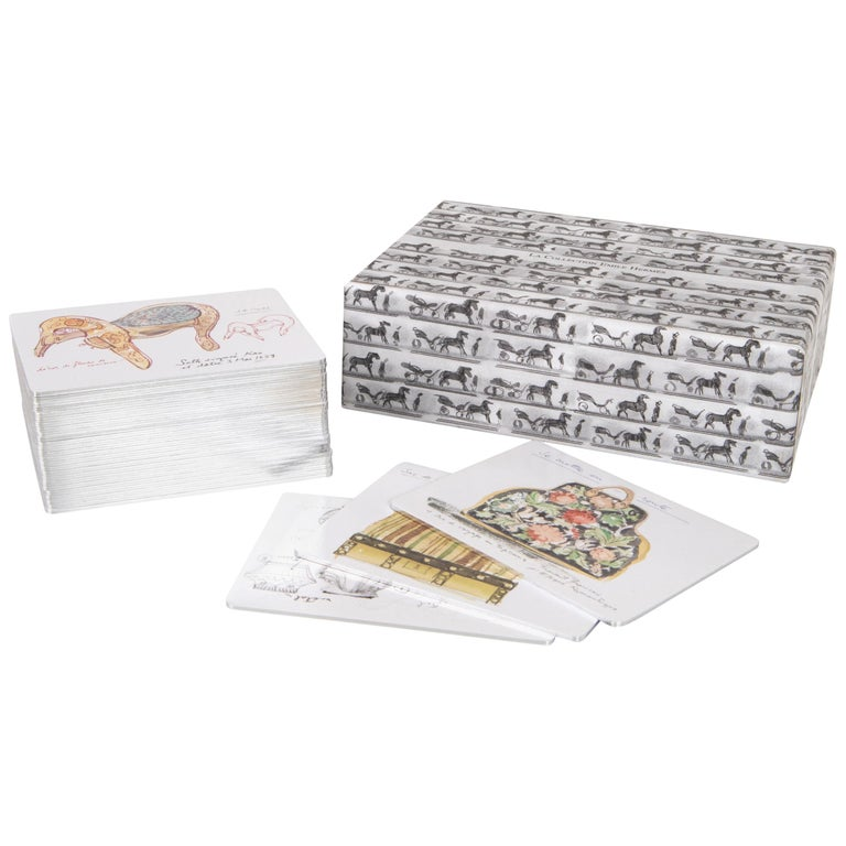 Hermes Cards La Collection Emile Hermes Memory Game For Sale